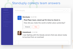 Standuply screenshot: Check-ins can be run automatically according to user-defined schedules