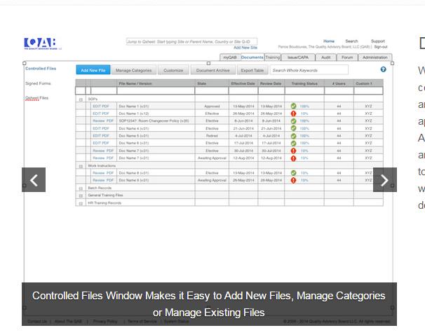 ZenQMS Software - Document manager