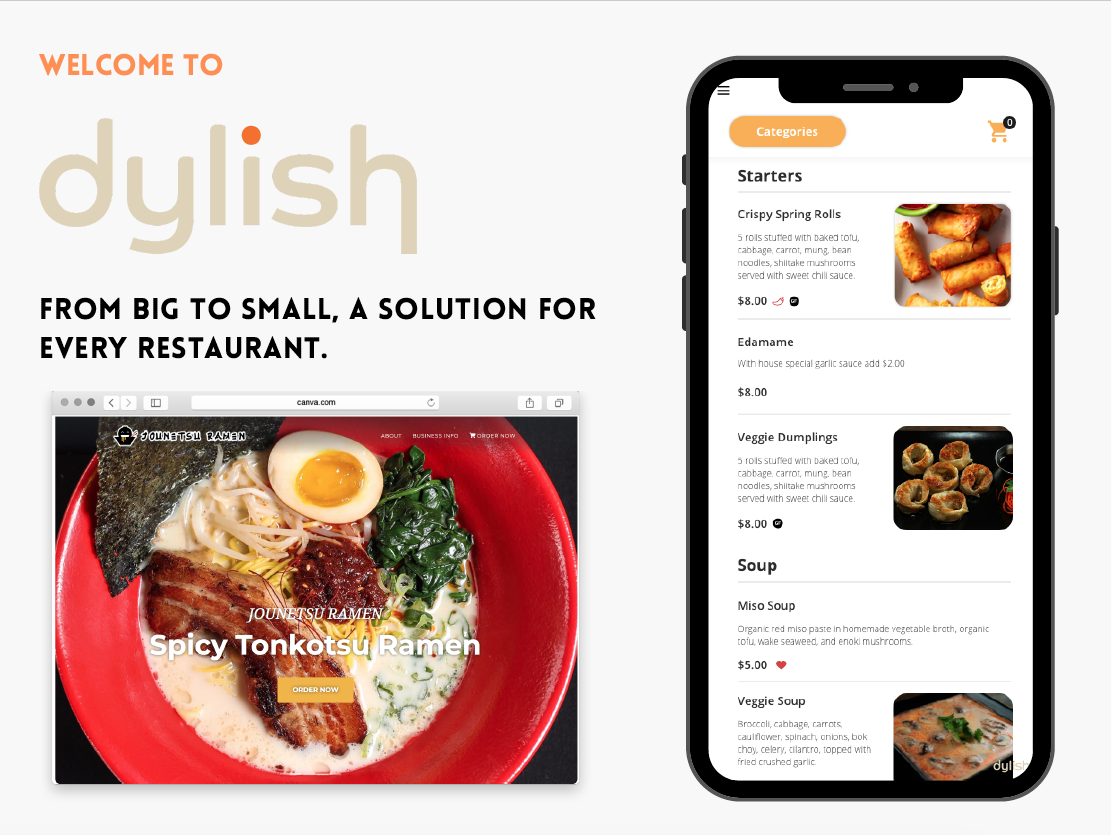 Dylish In-house website and application