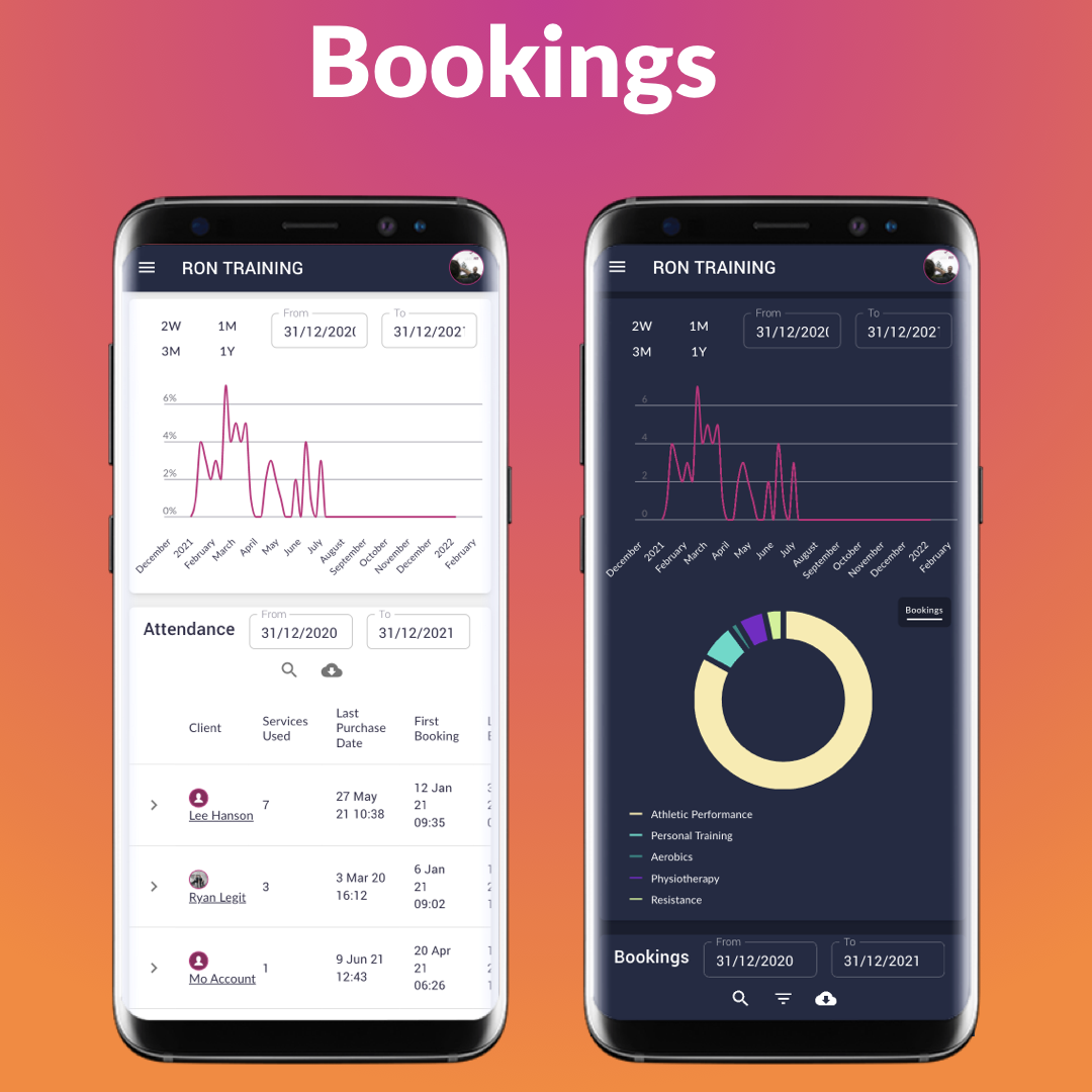 Take online bookings & payments, and reduce the back-and-forth! Your clients will now have all that information at the tip of their fingers.