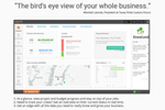 """Knowify screenshot: """"The bird's eye view of your whole business"""" (President at Texas Pride Custom Floors)"""