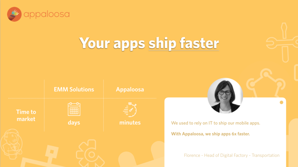 Your apps ship faster