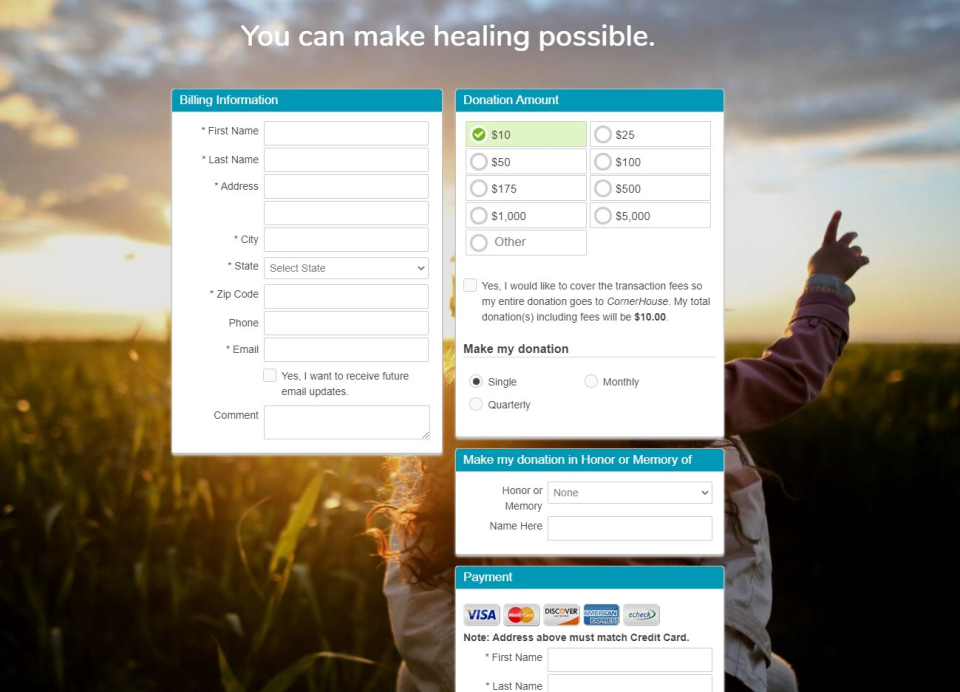 Trail Blazer Non-Profit Manager Software - Integrate Donation Forms