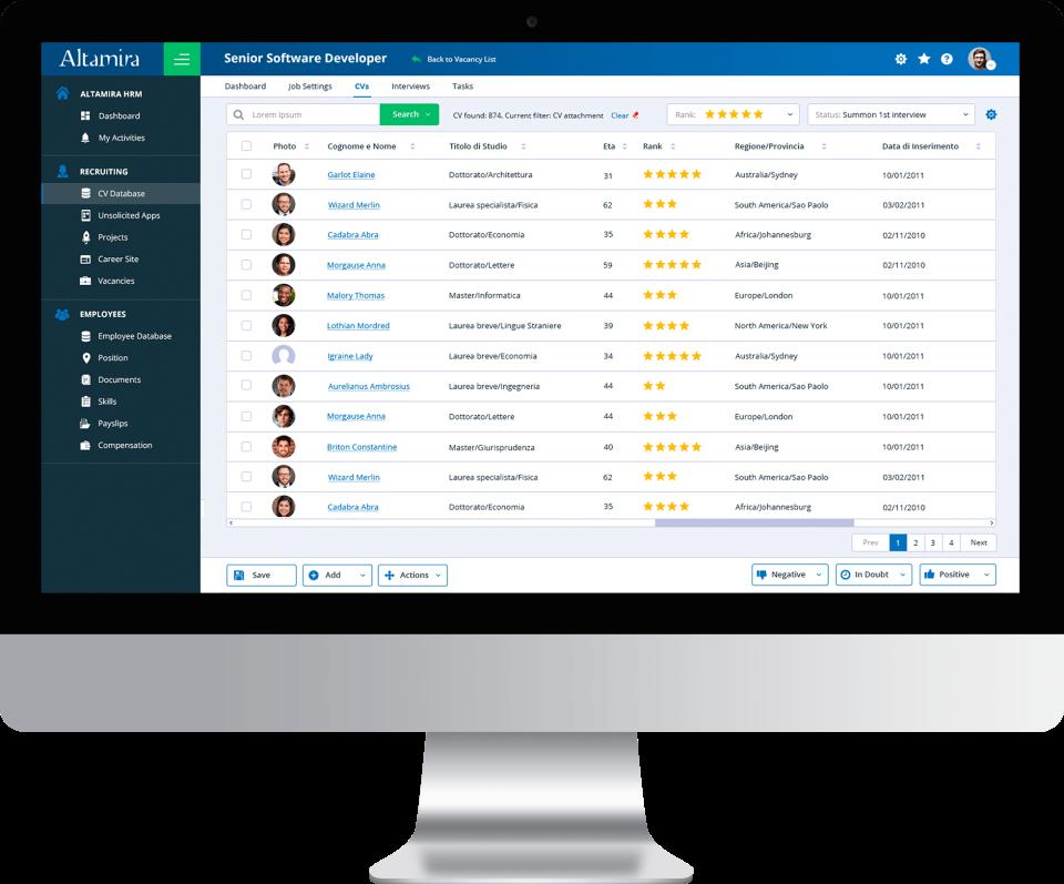 Altamira Recruiting CV database
