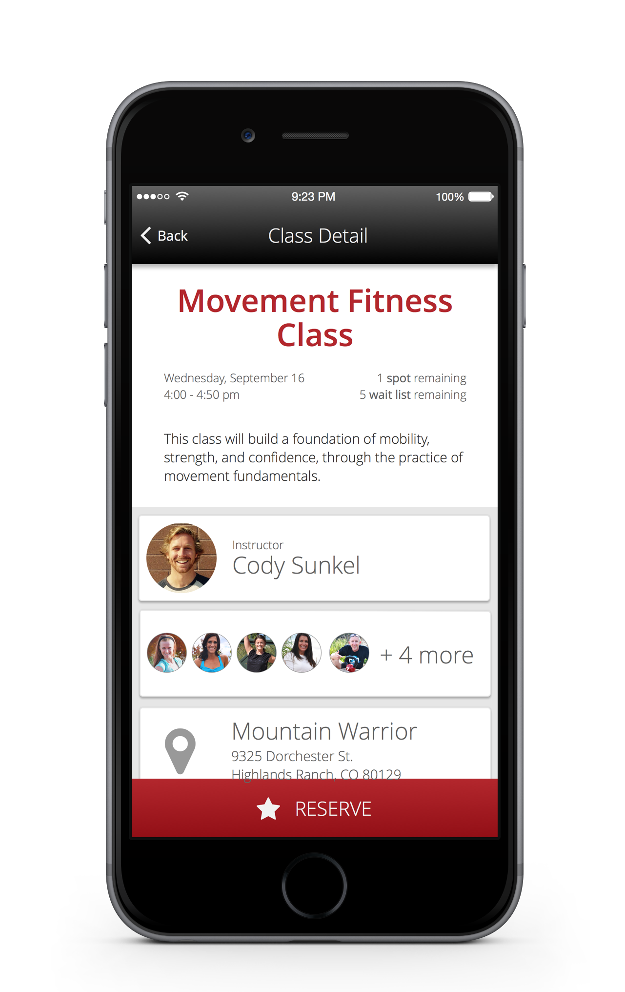 Let your members see who else has signed up for class
