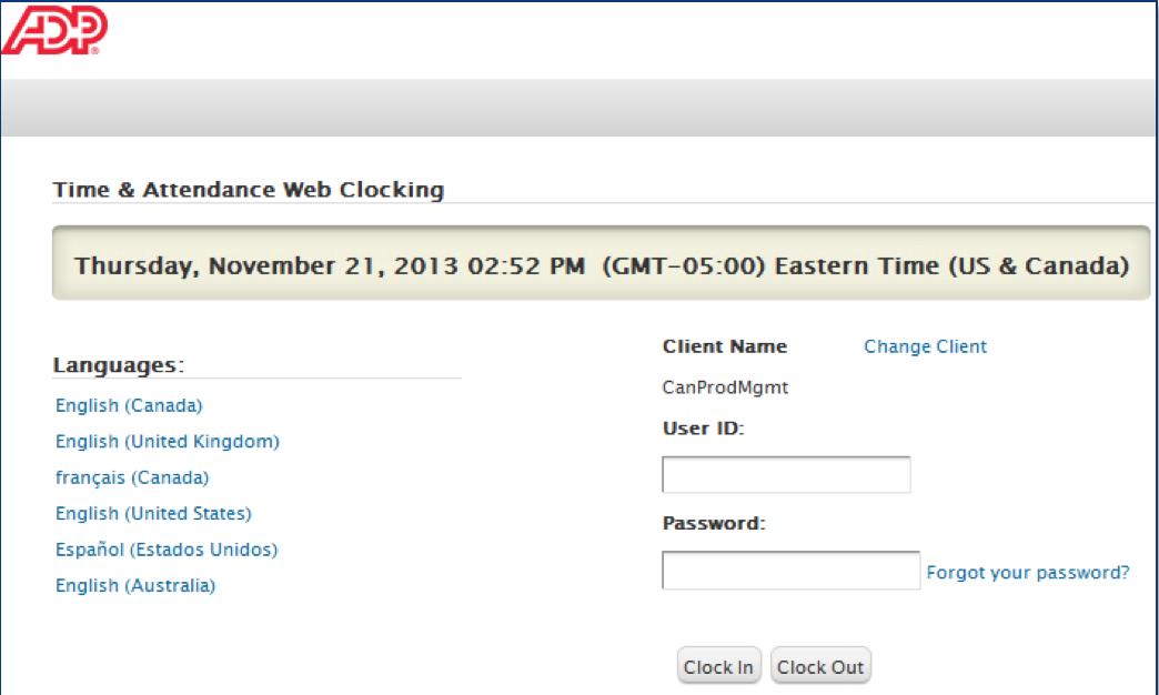 ezLaborManager web clocking