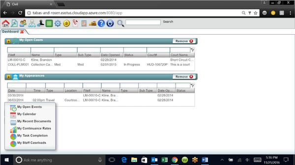 LegalEdge admin dashboard screenshot