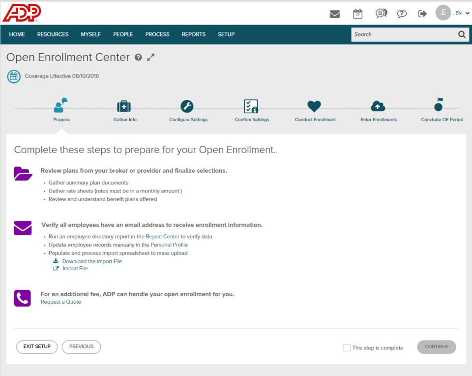 ADP Workforce Now Software - Benefits/Open Enrollment