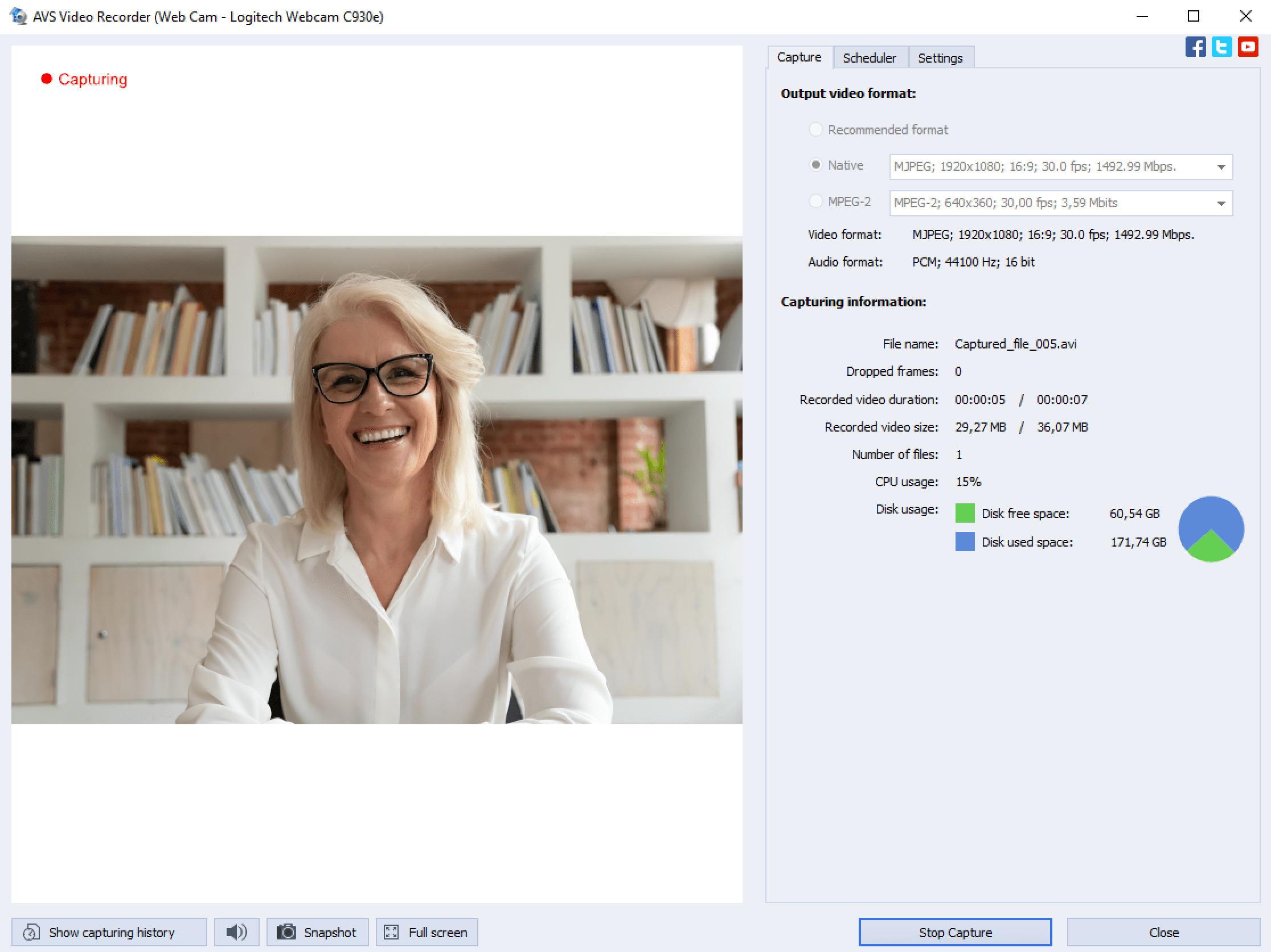 AVS Video Editor - Video Capture