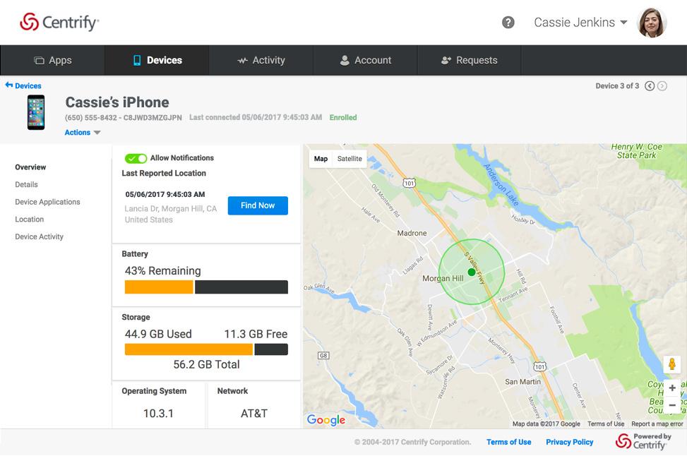 Centrify Application Services - Mobility Management