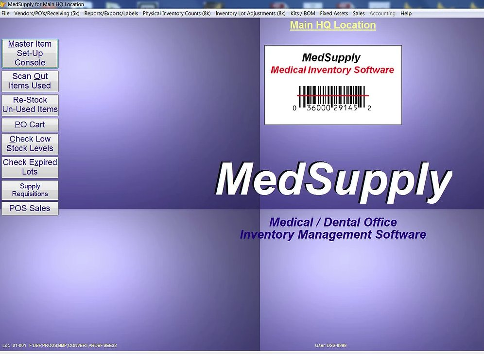 MedSupply Software dashboard