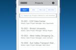 eSUB screenshot: Mobile project management
