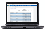 ExakTime screenshot: Payroll reporting includes a certified job worksheet that shows time and attendance for worksites