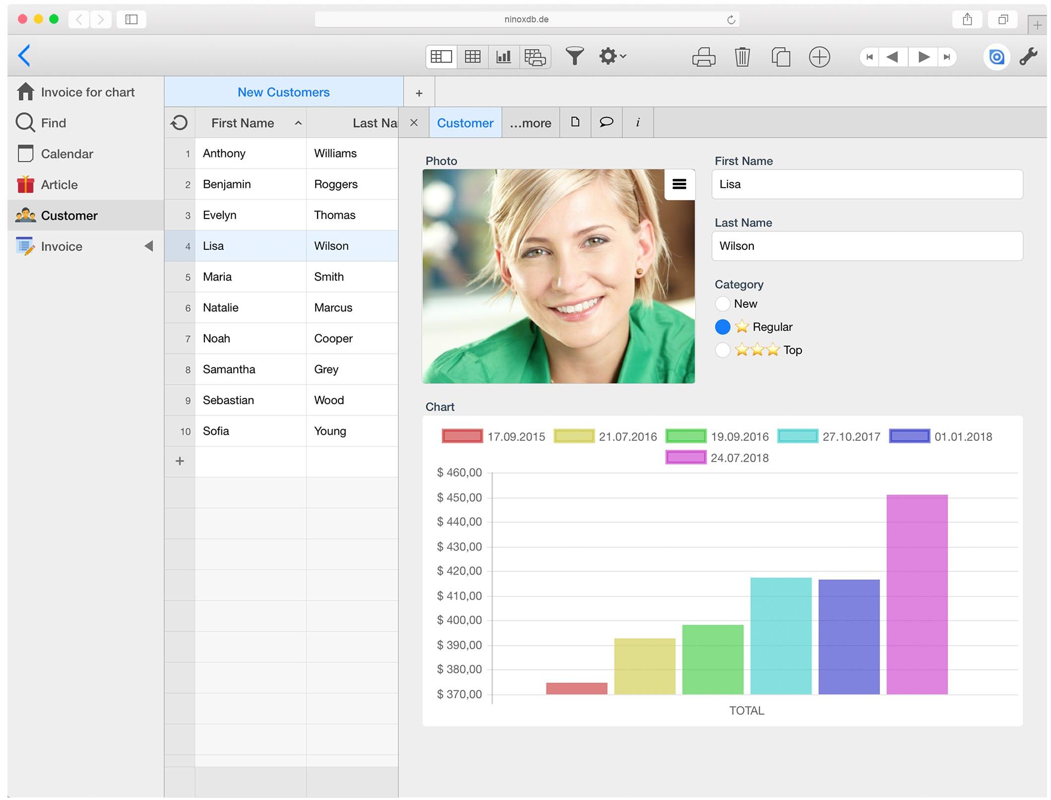 Ninox Software - Ninox data entry designer