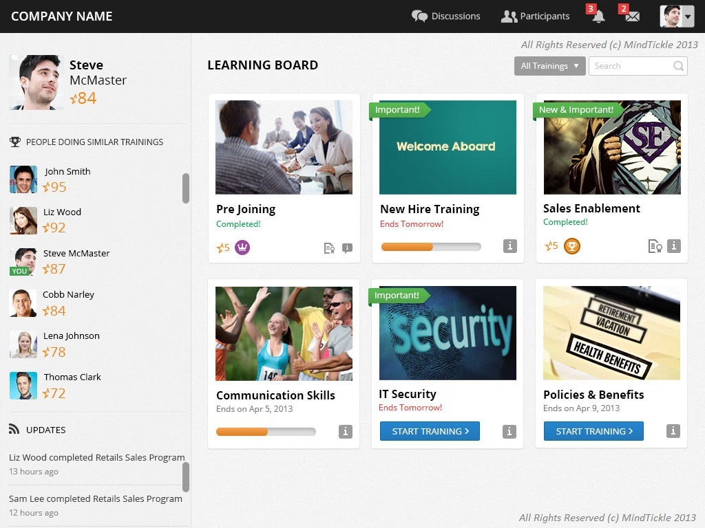Personalized learning board