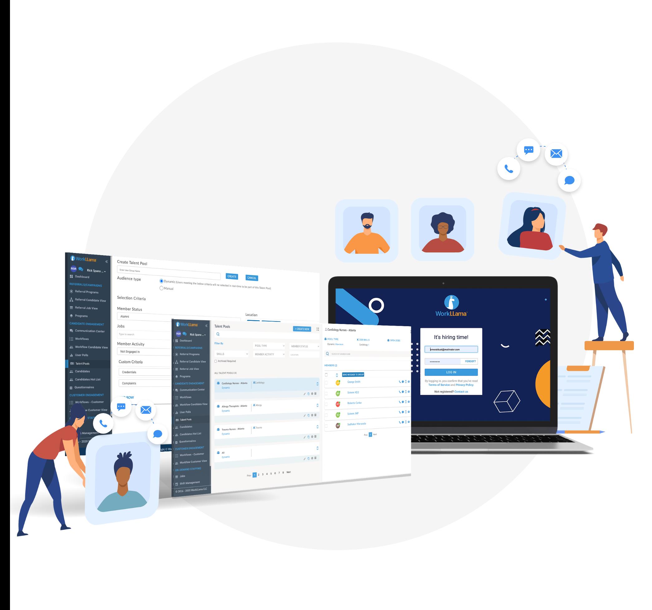 WorkLLama Software - Create Self-Sustaining Talent Pools
