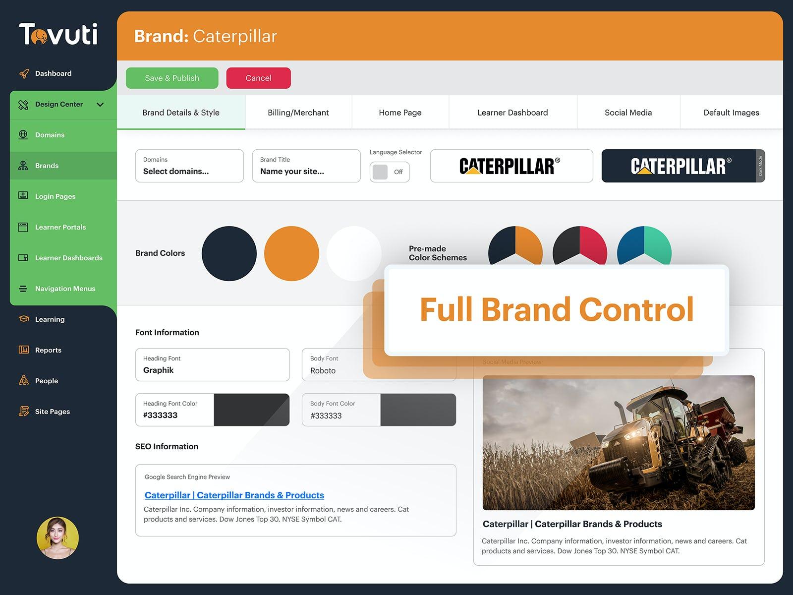 Tovuti Software - Full Brand Control