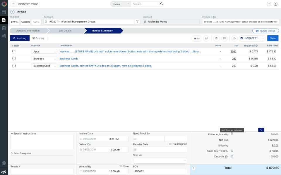 EFI PrintSmith Vision Software - 1