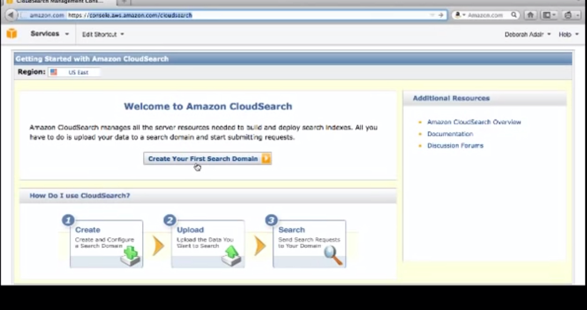 AmazonCloudSearch-WebsiteSearch-Domain