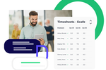 Push Operations screenshot: Push Time Tracking  offers a flexible solution to help you manage your employees' clock-ins, break behavior, and hours. Funnel hours straight from Push Time Tracking to Push Payroll to streamline your operations.