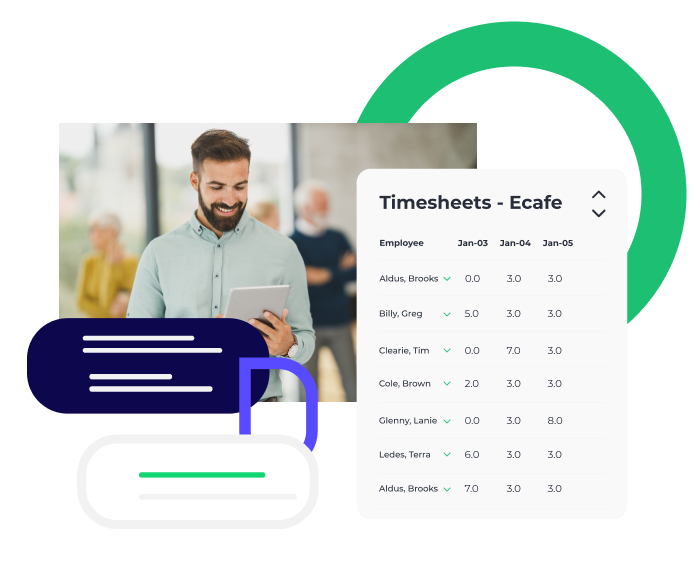 Push Time Tracking  offers a flexible solution to help you manage your employees' clock-ins, break behavior, and hours. Funnel hours straight from Push Time Tracking to Push Payroll to streamline your operations.