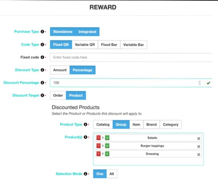 Incentivio set-up rewards