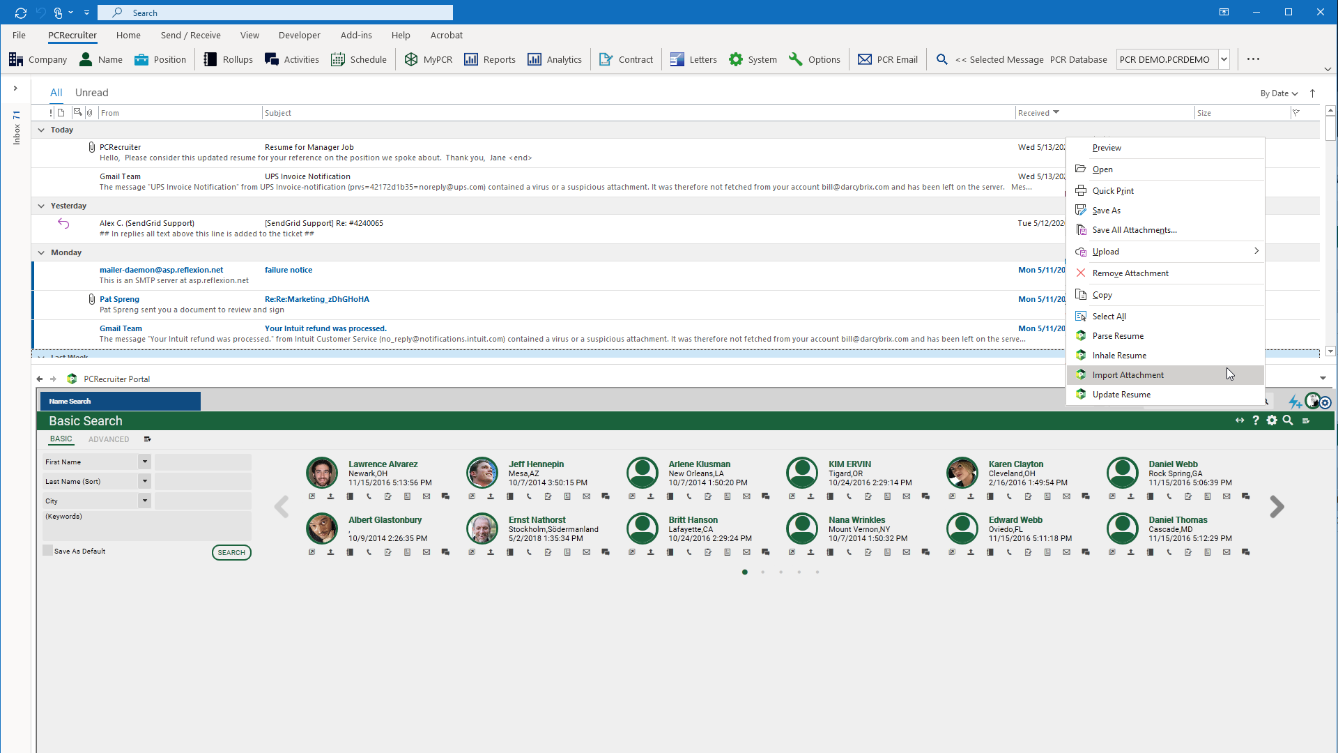 MS Outlook Integration