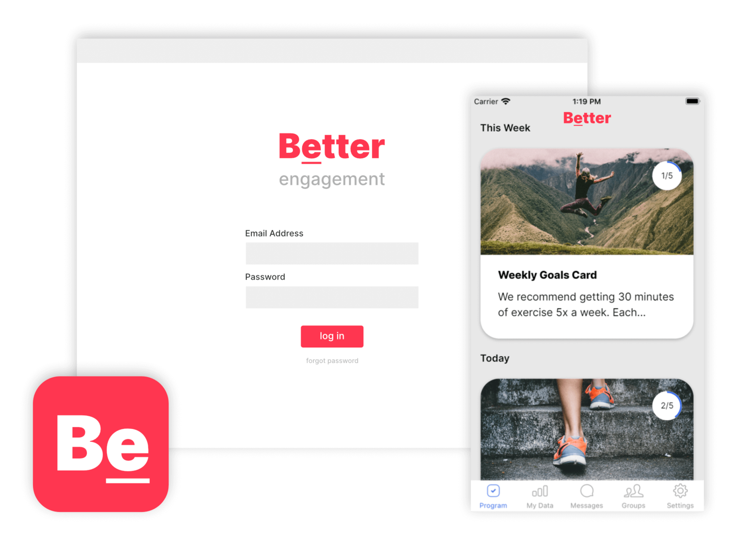 Nudge Coach Software - White label the platform and launch your own customized apps for iOS and Android to power your programs.