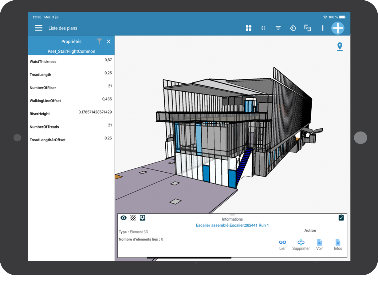 WIZZCAD BIM on mobile