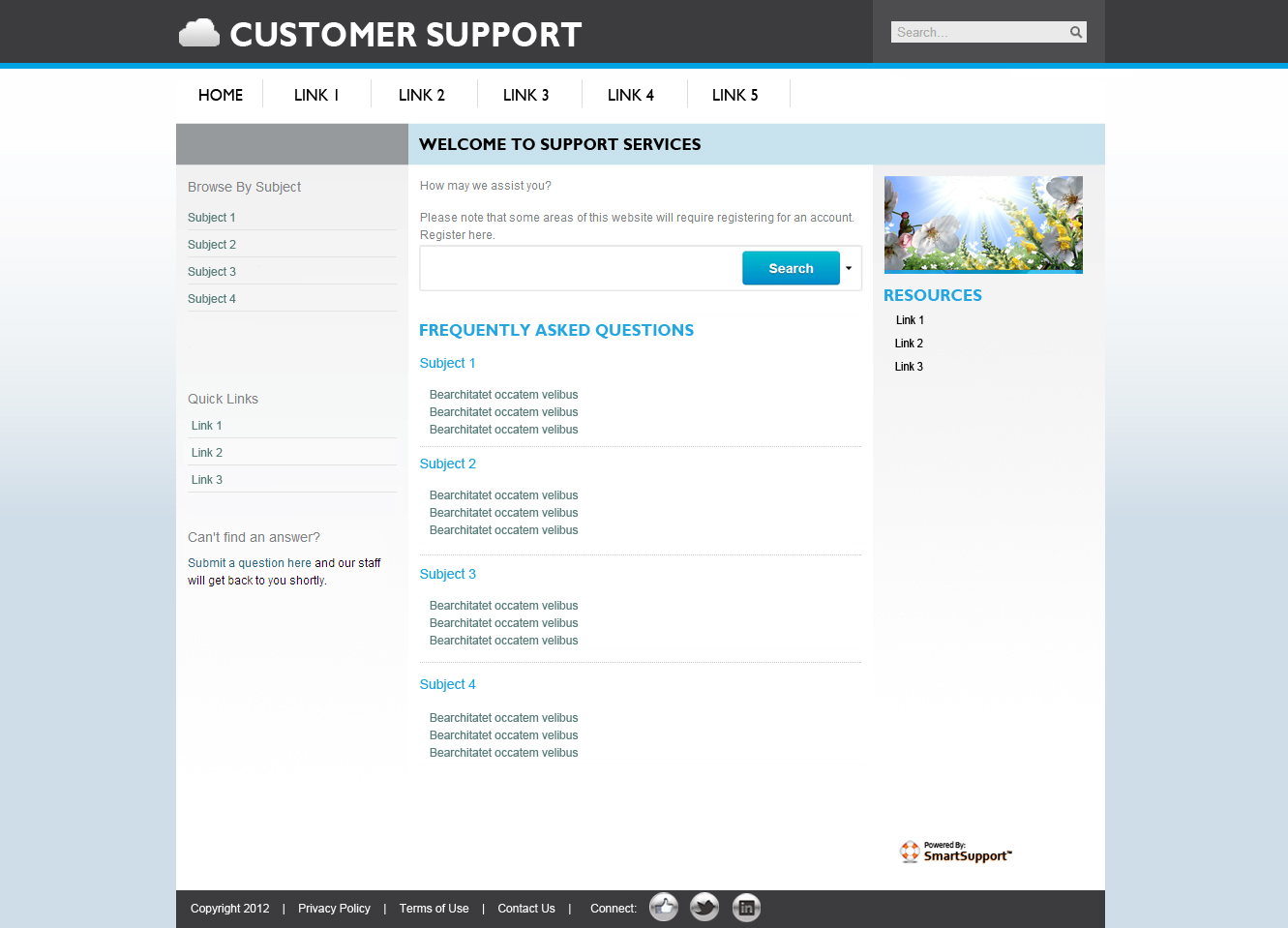 Enghouse eKMS Software - Fully Customizable Knowledge Base and Forum Templates seamlessly integrate into your site