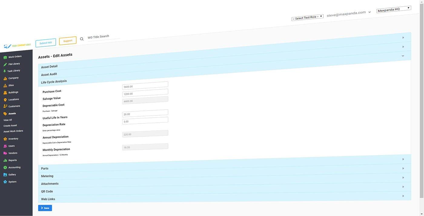 Maxpanda Work Order Software - Maxpanda assets