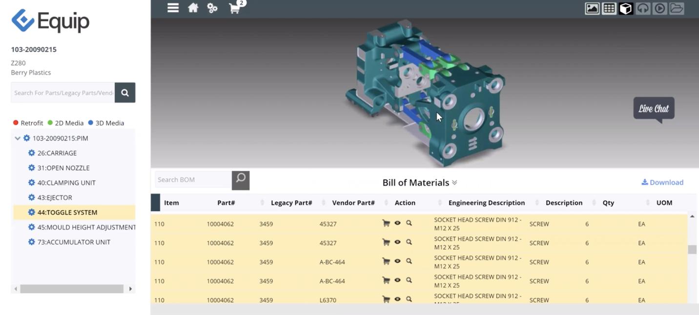 Equip Software - Interactive 3D Bill of Materials