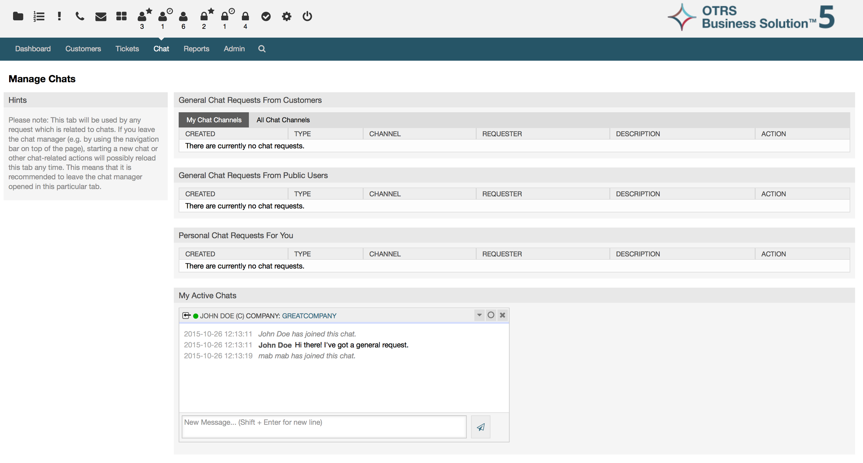 OTRS Software - OTRS managing chats