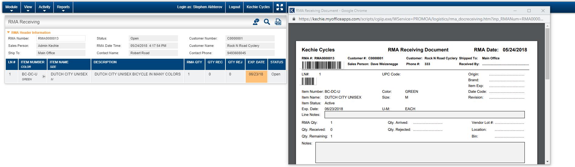 Kechie Software - RMA