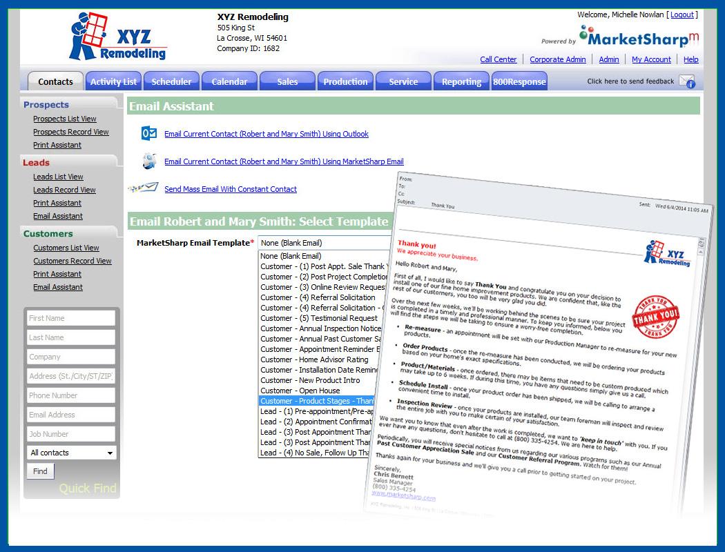 MarketSharp Software - Email marketing
