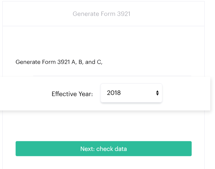 The platform allows companies to generate Form 3921 for the IRS