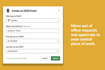 PTO by Roots screenshot: Nobody likes signing in to other platforms to deal with time off requests. PTO Ninja allows employees and managers to coordinate time off seamlessly with intuitive Slack commands.