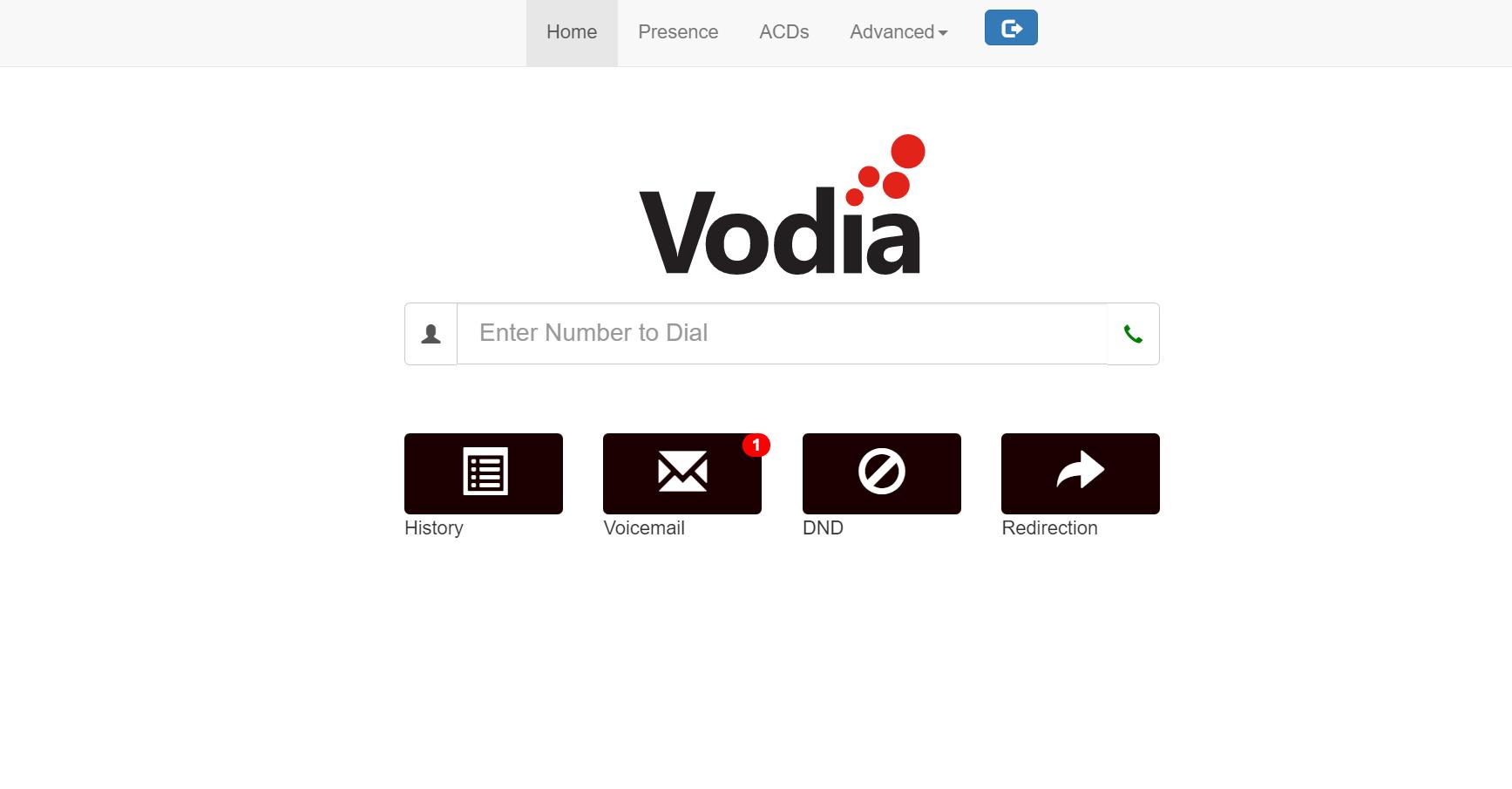 Vodia PBX Software - Dashboard