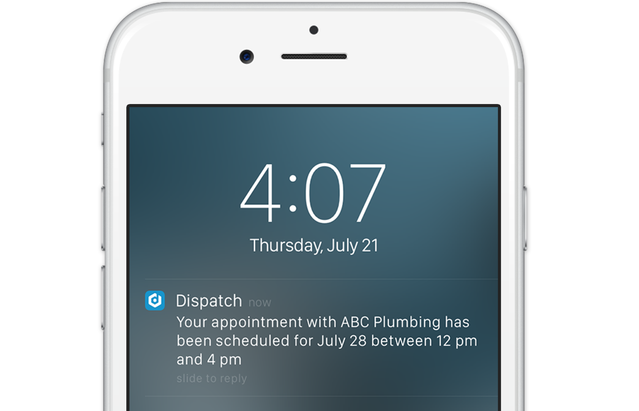 Instantly send notifications when assigning new jobs and get status alerts from field workers