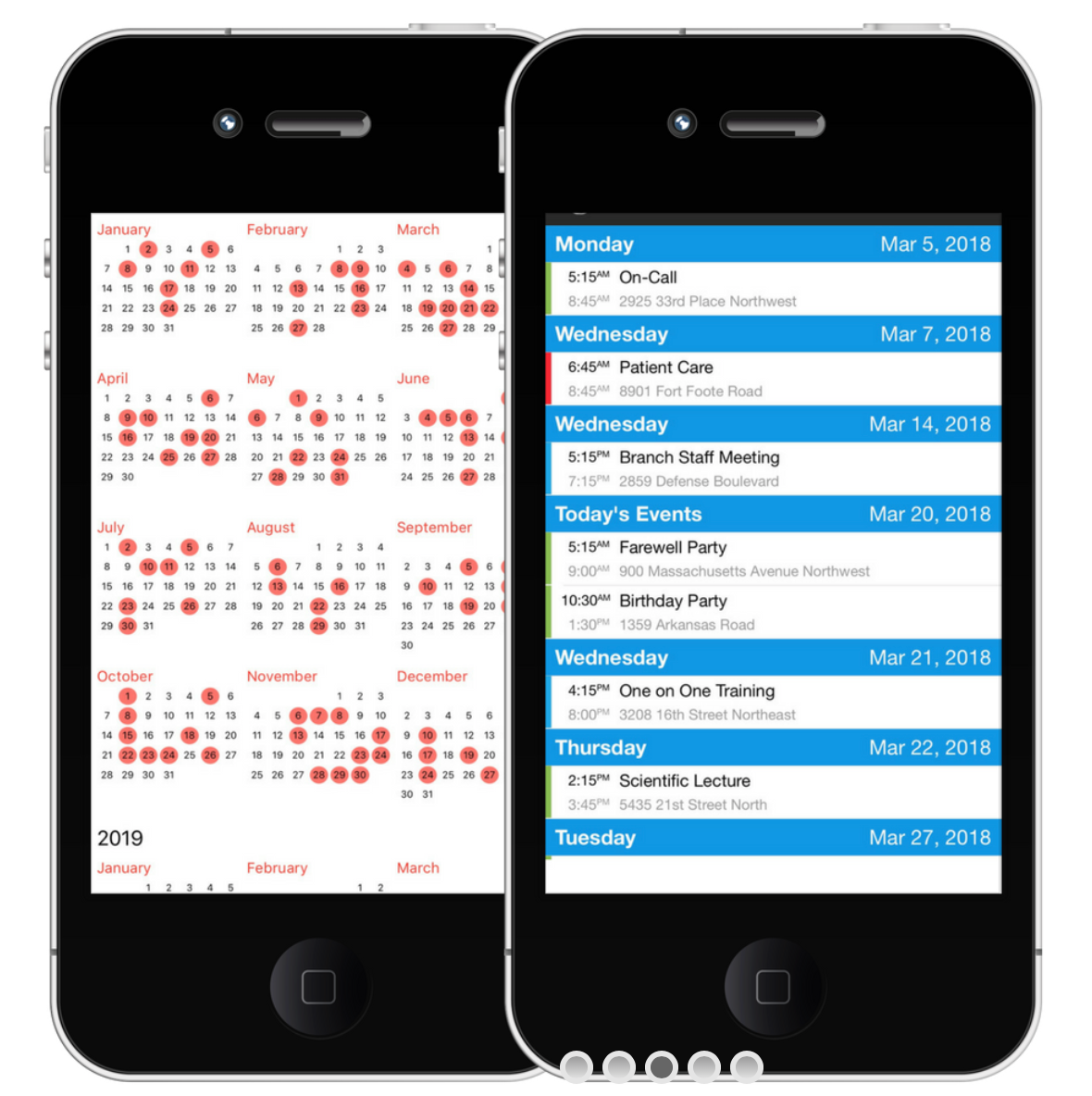 The uSked mobile app can be used to view upcoming assignments