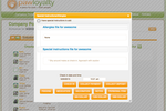 PawLoyalty Pro Software screenshot: PawLoyalty's special pet instructions