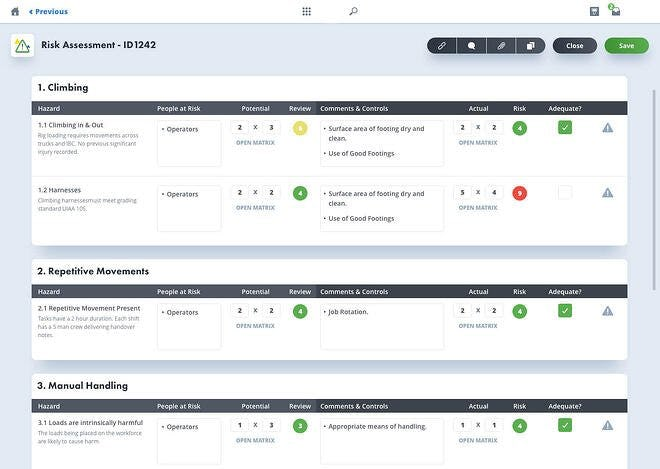 EcoOnline Platform Software - Make quick and informed risk control decisions. Structured approach to managing quantitative and qualitative risk assessments