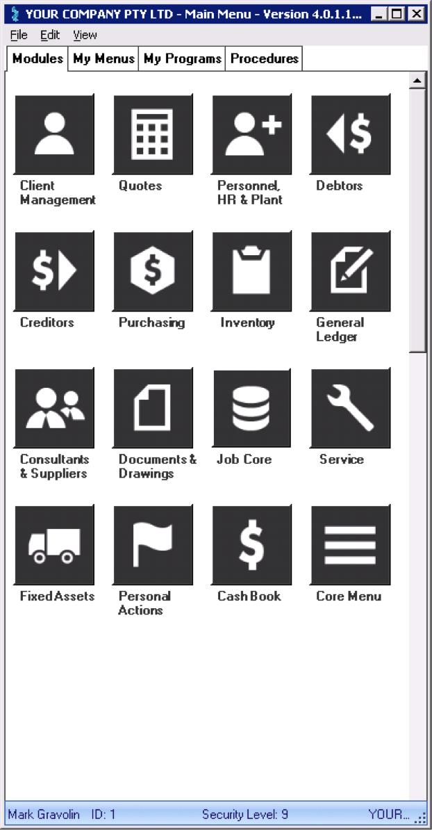 LEVESYS Software - Module list