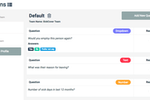 RefNow Screenshot: RefNow custom questions