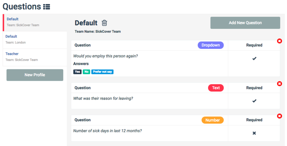 RefNow custom questions