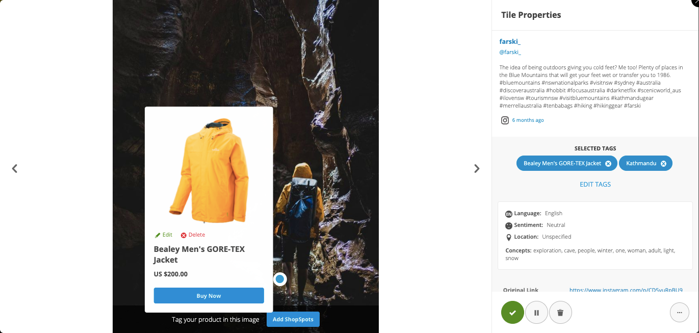 Make UGC Shoppable - Stackla makes it easy for you to connect content to commerce by pairing your product catalog with relevant UGC to take people directly from point of inspiration to point of purchase.