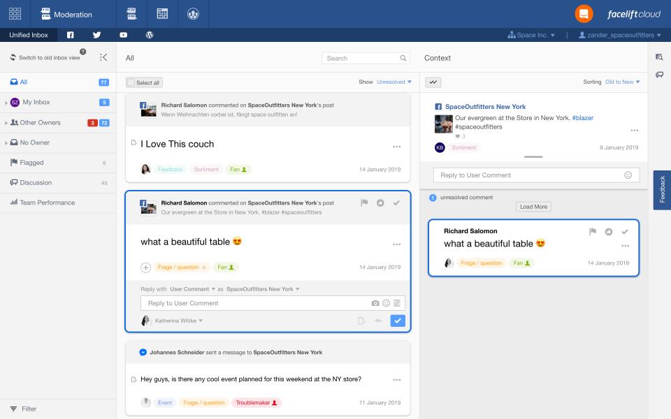 Facelift Cloud Software - Facelift Cloud content moderation screenshot