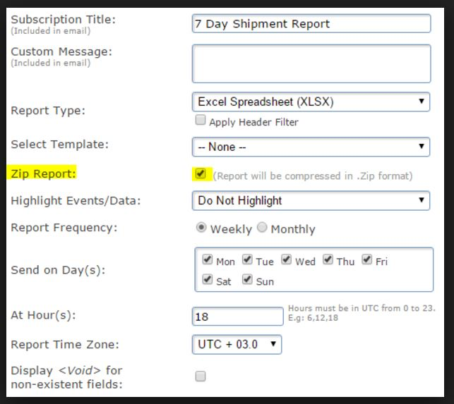 Compress large reports and send to email