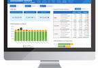 Captura de pantalla de Kepion: Kepion's dashboard and scorecards software provides a powerful tool for strategic management and performance evaluation, helping users to conduct budget variance reporting, monitor KPIs, and manage real-time business performance