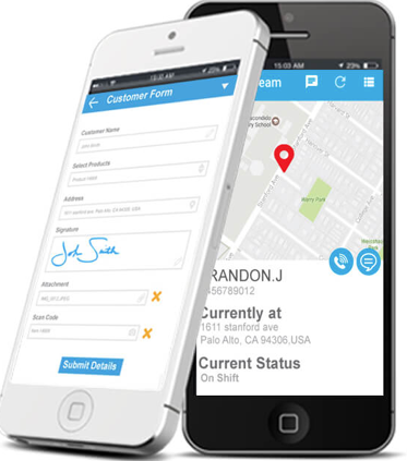 Locations can be tracked in real time and employees can gather data in the field